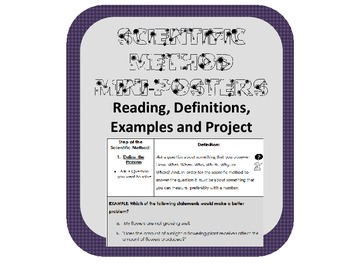 Scientific Method nonfiction reading, explanation and mini poster project