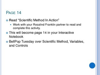 Scientific Method/Experimentation - Controlling Variables - Interactive Notebook