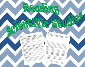 Scientific Method Reading Assignment, Lab Report, Science Common Core Worksheet