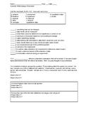 Scientific Methodology Worksheet with KEY
