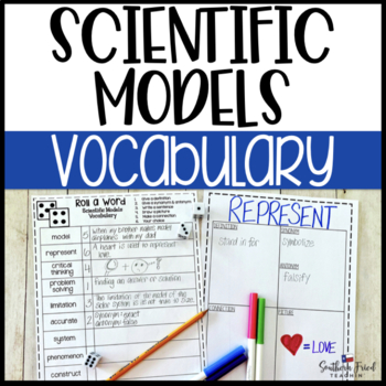 Scientific Models Fun Interactive Vocabulary Dice Activity