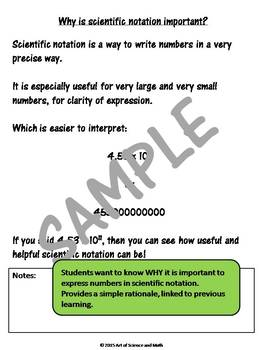 Scientific Notation - Middle and High School Science and Math
