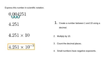 Scientific Notation Introduction