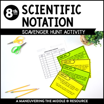Scientific Notation Scavenger Hunt Activity
