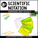 Scientific Notation: Scavenger Hunt