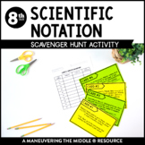 Scientific Notation Scavenger Hunt Activity