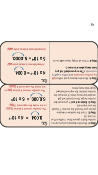 Scientific Notation Foldable/Notes