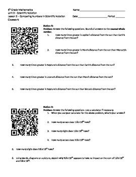 Scientific Notation 8.EE.3