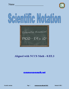 Scientific Notation - 8.EE.3