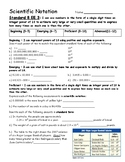 Scientific Notation Assessment - 8.EE.3