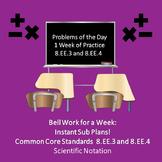 Scientific Notation Practice Bell Work