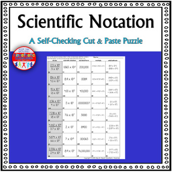 Scientific Notation: A Cut & Paste Activity