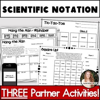 Scientific Notation Activities! Partner Pack!