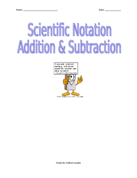 Scientific Notation Addition & Subtraction