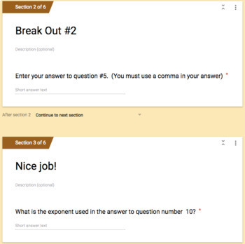 Scientific Notation (Addition & Subtraction) – Two Breakout Activities!