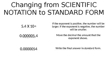 Scientific Notation Anchor Chart