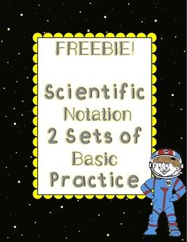 Scientific Notation Basic Practice 2 Sets