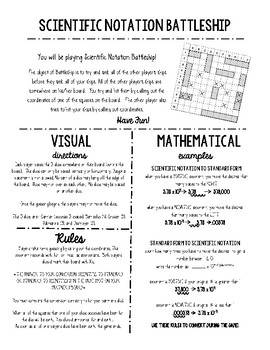 Scientific Notation Battleship