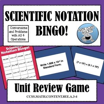 Scientific Notation Bingo!