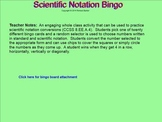 Scientific Notation Bingo for the SMARTboard 8.EE.A4