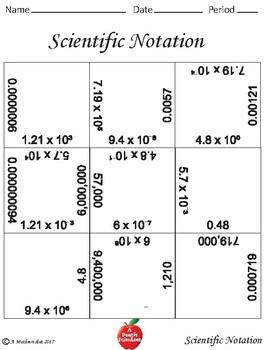 Scientific Notation Block Puzzles