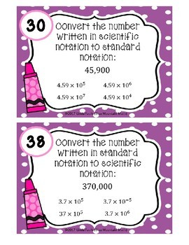 Scientific Notation Boom Cards