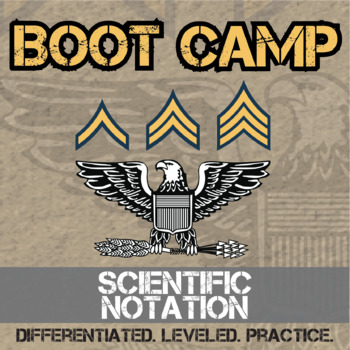 Scientific Notation Boot Camp -- Differentiated Practice A