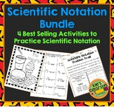 Scientific Notation Bundle - 3 Student Math Activites for Practice and Review