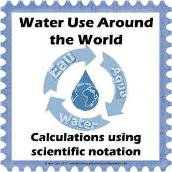 Scientific Notation Calculations - Water Use Around the World