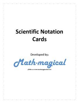 Scientific Notation Card Activities