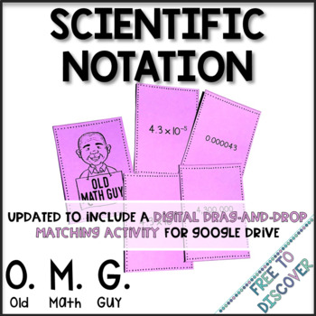 Scientific Notation And Standard Form Card Game By Free To Discover