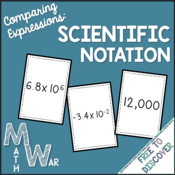 Scientific Notation Card Game