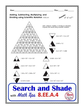 Scientific Notation Coloring Search and Shade