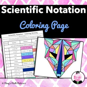 Scientific Notation: Coloring Activity