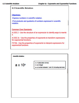 Scientific Notation (Lesson Plan with Homework)
