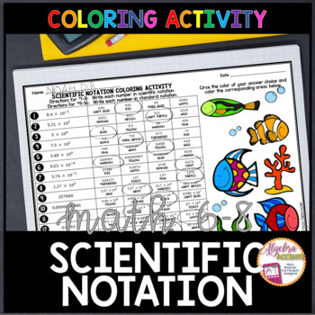 Scientific Notation: Converting to/from Standard to Scientific Coloring Activity