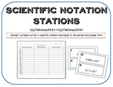 Scientific Notation Gallery Walk Task Cards