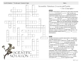 "Scientific Notation Crossword Puzzle ""The Concepts"""