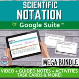 Scientific Notation Digital Distance Learning Unit MEGA BUNDLE