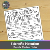Scientific Notation Notes to Doodle Science Math