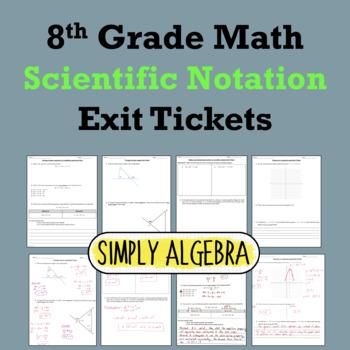 Scientific Notation Exit Tickets