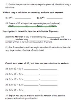 Scientific Notation Exploration