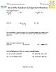 Scientific Notation & Exponents Practice