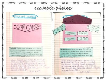 Scientific Notation Lesson for Interactive Notebook - Includes Practice Problems