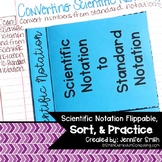 Scientific Notation Lesson for Interactive Notebook - Incl