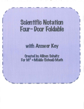 Scientific Notation Foldable