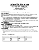 Scientific Notation Game Puzzle with Worksheet