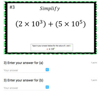 Scientific Notation Google Form Bundle – Perfect for Google Classroom!