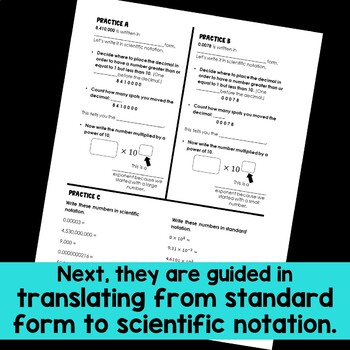 Scientific Notation Guided Notes
