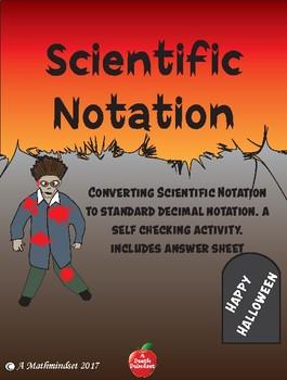 Scientific Notation Halloween Worksheet